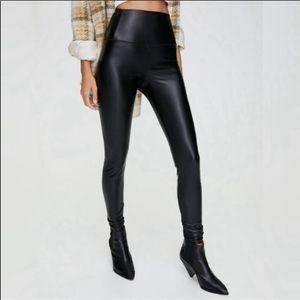 7 For All Mankind Vegan Leather ankle Leggings